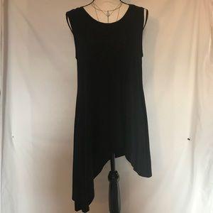 Ava Couture blk sleeveless Asymmetrical top/dress